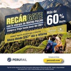Ofertas de Viajes y ocio en el catálogo de Perúrail ( 9 días más)