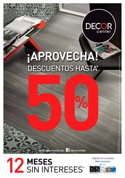 Ofertas de Pisos  en el folleto de Decor Center en Arequipa
