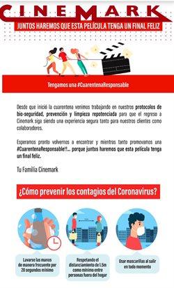 Ofertas de Viajes y ocio en el catálogo de Cinemark en Arequipa ( 9 días más )