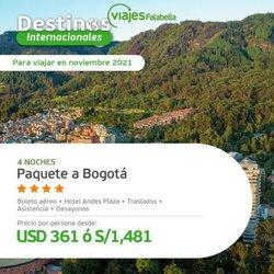 Ofertas de Viajes y ocio en el catálogo de Viajes Falabella ( 3 días más)