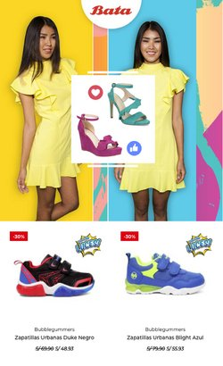 Ofertas de Ropa, zapatos y complementos en el catálogo de Bata ( 11 días más)