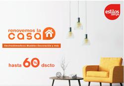 Ofertas de Tiendas por departamento  en el folleto de Estilos en Pisco