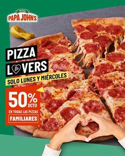 Ofertas de Restaurantes en el catálogo de Papa John's ( 3 días más )