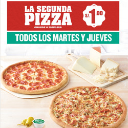 Ofertas de Papa John's  en el folleto de Arequipa