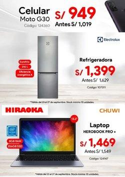 Ofertas de Tecnología y Electrónica en el catálogo de Hiraoka ( Vence hoy)