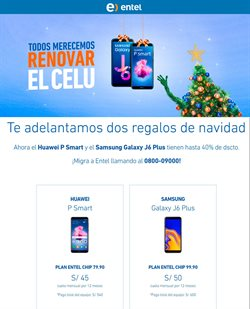 Ofertas de Entel  en el folleto de Lima