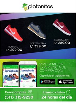 Ofertas de Zapatillas  en el folleto de Platanitos en Trujillo