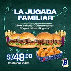 Ofertas de Restaurantes en el catálogo de Bembos en Huacho ( Caduca hoy )