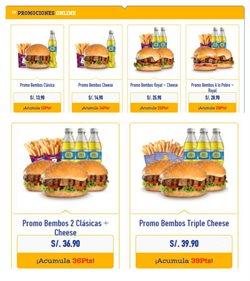 Ofertas de Restaurantes en el catálogo de Bembos ( 14 días más )