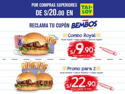 Ofertas de Bembos  en el folleto de Huancayo