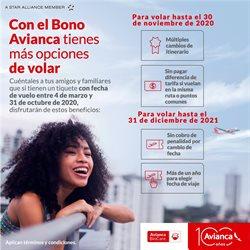 Ofertas de Viajes y ocio en el catálogo de Avianca en Huacho ( Más de un mes )