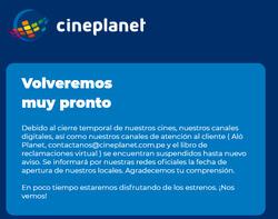 Cupón CinePlanet en Arequipa ( 20 días más )