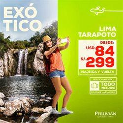 Ofertas de Viajes a Perú  en el folleto de Peruvian Airlines en Lima