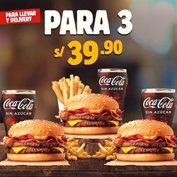 Ofertas de Restaurantes en el catálogo de Burger King en Huacho ( 4 días más )
