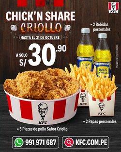 Ofertas de Restaurantes en el catálogo de KFC ( 8 días más)