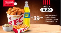 Ofertas de KFC  en el folleto de Cusco