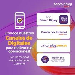 Ofertas de Bancos y seguros en el catálogo de Banco Ripley ( 30 días más)