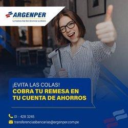 Ofertas de Bancos y seguros en el catálogo de Argenper ( 2 días más)