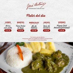 Ofertas de José  Antonio Restaurante en el catálogo de José  Antonio Restaurante ( 30 días más)