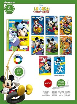 Ofertas de Mickey Mouse  en el folleto de Artesco en Lima