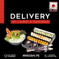 Ofertas de Restaurantes en el catálogo de Mr. Sushi en Huánuco ( 4 días más )