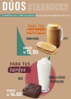 Ofertas de Restaurantes en el catálogo de Starbucks ( 2 días más)