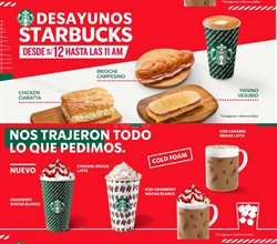 Ofertas de Starbucks  en el folleto de Trujillo