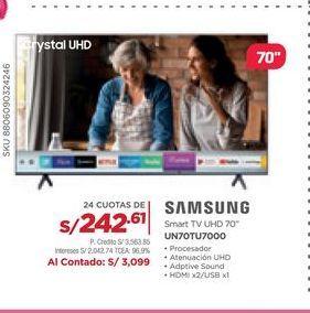 Oferta de Smart tv Samsung por