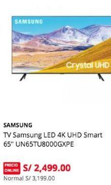 Oferta de Smart tv led 65'' Samsung por S/ 2499