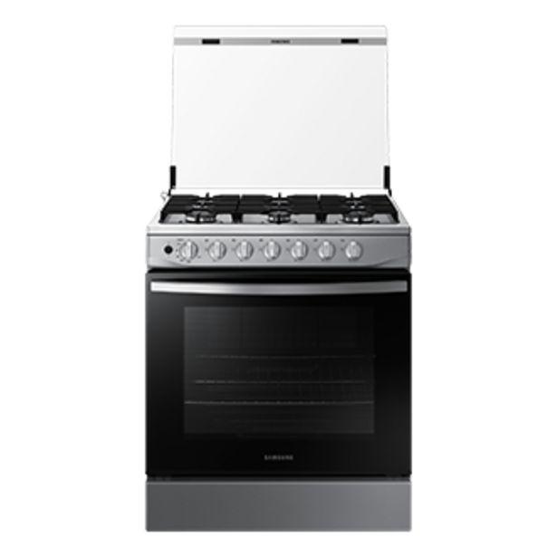 Oferta de Cocina a Gas NX52T3310PV,  <br> 6 hornillas Silver por S/ 1199