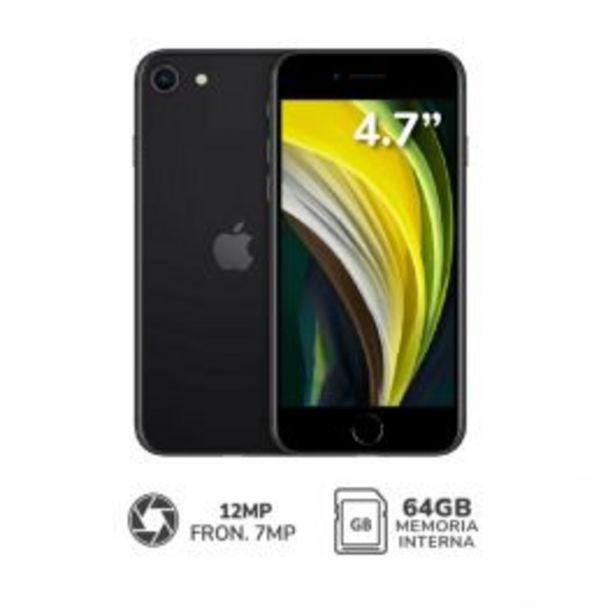 "Oferta de Tel Cel Apple Iphone Se 2020 4.7"" 3Gb 64Gb 12Mp Negro por S/ 2499"
