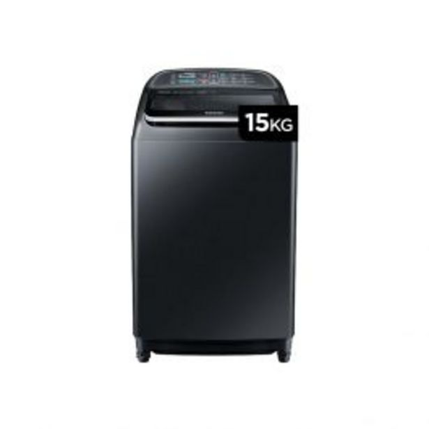 Oferta de Lavadora Automatica Samsung Wa15J5750Lv 15K Negra por S/ 1649
