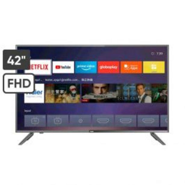 Oferta de Televisor 42'' Haier Led Full Hd Smart H42D62Fn por S/ 1099