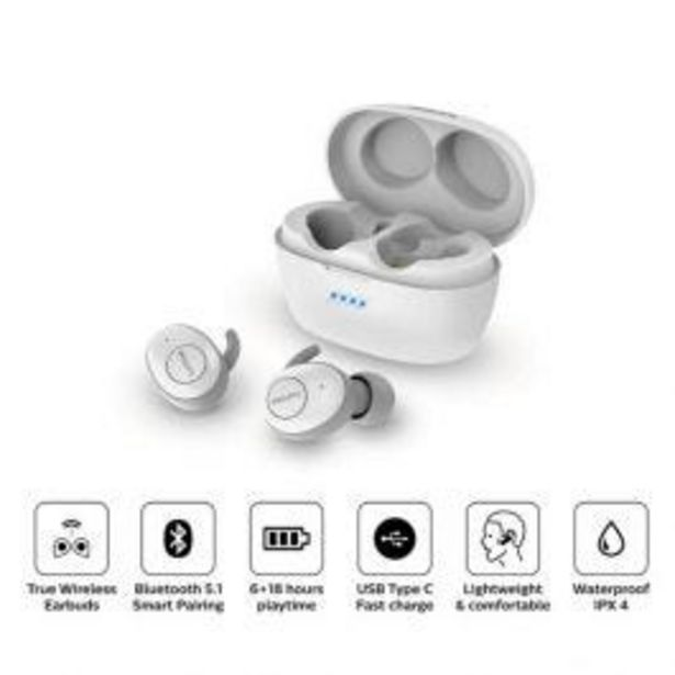 Oferta de Audífonos Philips Tat3215Wt por S/ 249