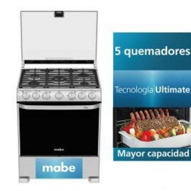 Oferta de Cocina A Gas Mabe Eme7687Cfyx1 30'' Inox 5 Hornillas por S/ 2249