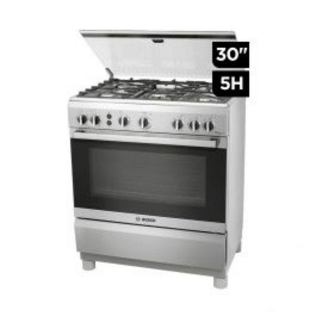 """Oferta de Cocina Gas Bosch Pro547 30"""" Inox 5H por S/ 2199"""