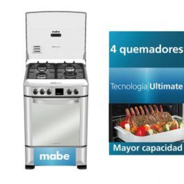Oferta de Cocina A Gas Mabe Cmp6085Fx0 24'' Inox 4 Hornillas por S/ 2119