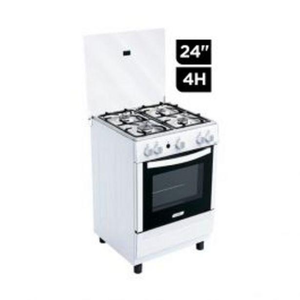 """Oferta de Cocina Gas Coldex Cx620 24"""" Blanca 4H por S/ 889"""