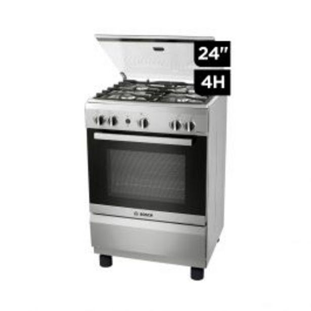 """Oferta de Cocina Gas Bosch Pro425 24"""" Inox 4H por S/ 1099"""