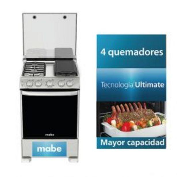 Oferta de Cocina A Gas Mabe Cme6060Csyx0 24'' Inox 4 Hornillas por S/ 1559
