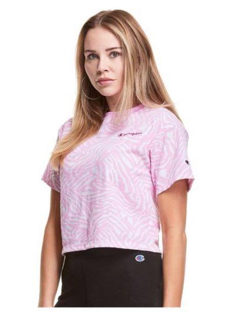 Oferta de Polo para Mujer CHAMPION W5950P586158 CROPPED PRINT TEE A4MC por S/ 119