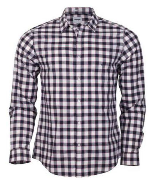 Oferta de Camisa para Hombre WRANGLER SHIRT LS LARGE SQUARES SLIM NE por S/ 113,4