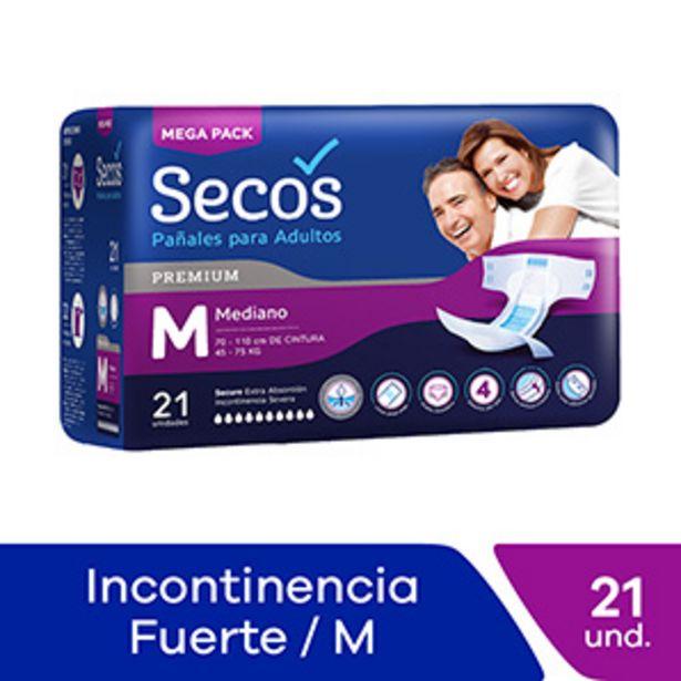 Oferta de Pañales Adultos Talla M Secos Premium - Bolsa 21 UN por S/ 52,5