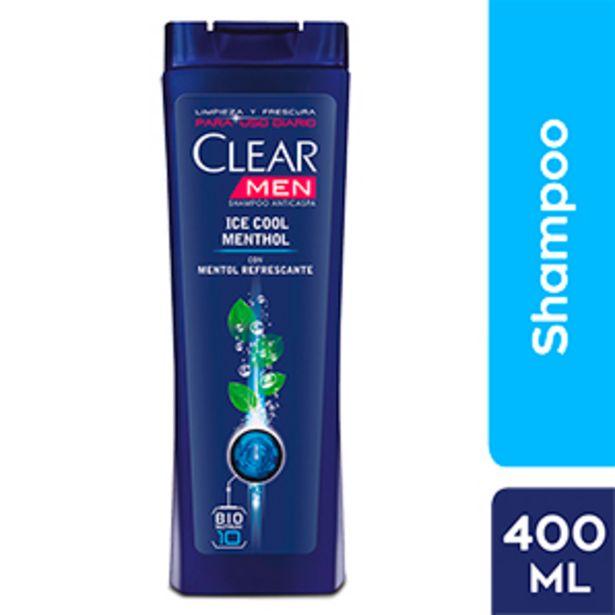 Oferta de Shampoo Anticaspa Clear Men Ice Cool Mentol - Frasco 400 ML por S/ 14,9