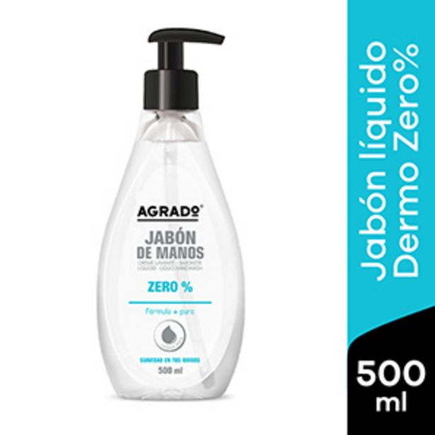 Oferta de Jabón Líquido para Manos Agrado Dermo Zero - Frasco 500 ML por S/ 5,9