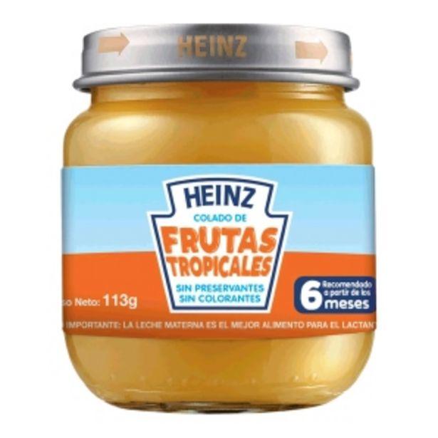 Oferta de Heinz Colado Frutas Tropicales - Pote 113 G por S/ 3
