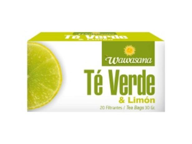 Oferta de Té Verde & Limón Wawasana - Caja 20 UN por S/ 4,2