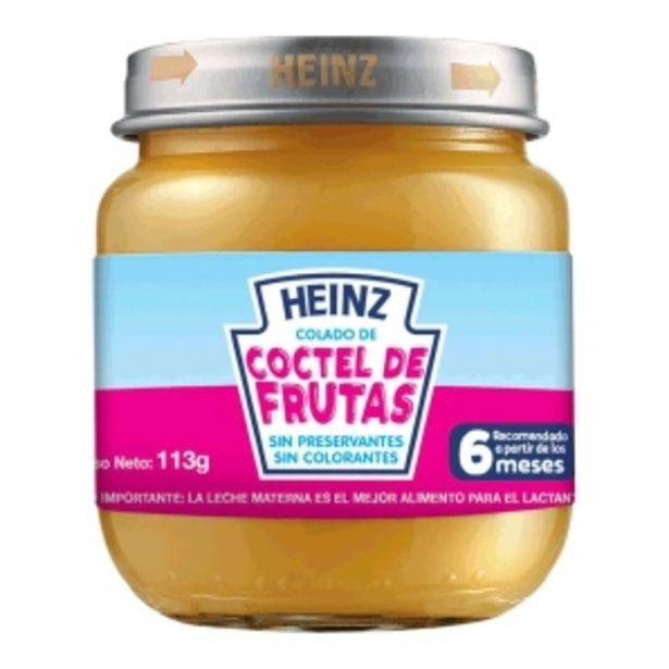 Oferta de Heinz Colado Coctel De Frutas - Pote 113 G por S/ 3