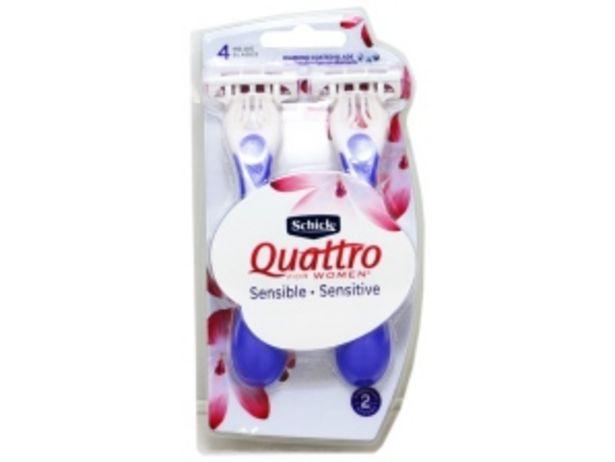 Oferta de Máquina para Afeitar 4 Hojas Schick Quattro For Women - Blister 2 UN por S/ 12