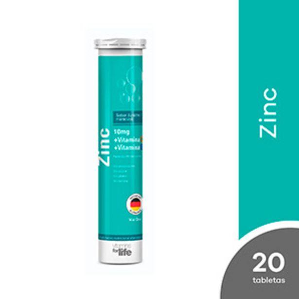 Oferta de Zinc 10 mg + Vitamina C + Vitamina E Vitamins For Life Tableta Efervescente Sabor Durazno / Maracuyá por S/ 18